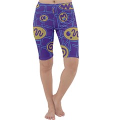 Purple and yellow abstraction Cropped Leggings