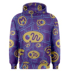 Purple and yellow abstraction Men s Pullover Hoodie