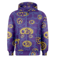 Purple and yellow abstraction Men s Zipper Hoodie