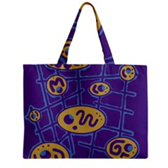 Purple and yellow abstraction Zipper Mini Tote Bag