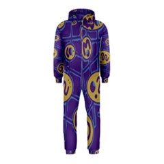 Purple and yellow abstraction Hooded Jumpsuit (Kids)