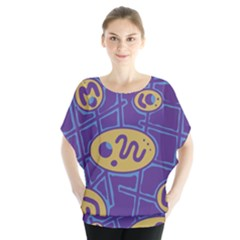 Purple and yellow abstraction Blouse