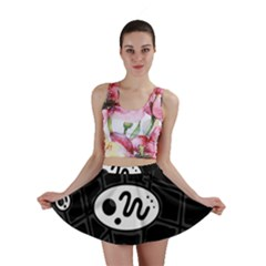 Black and white crazy abstraction  Mini Skirt