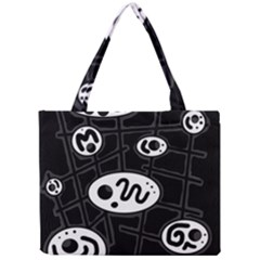 Black and white crazy abstraction  Mini Tote Bag