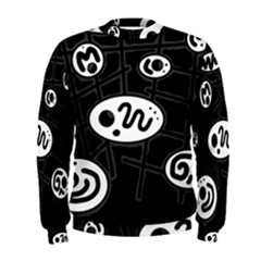 Black and white crazy abstraction  Men s Sweatshirt