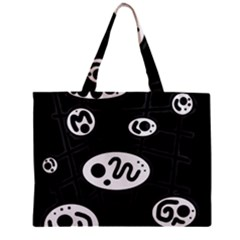 Black and white crazy abstraction  Zipper Mini Tote Bag
