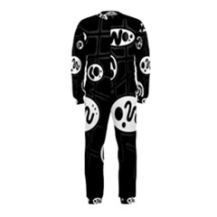 Black and white crazy abstraction  OnePiece Jumpsuit (Kids)