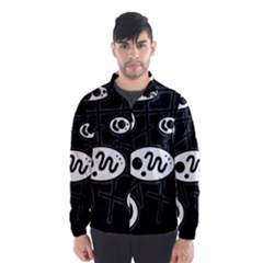 Black and white crazy abstraction  Wind Breaker (Men)