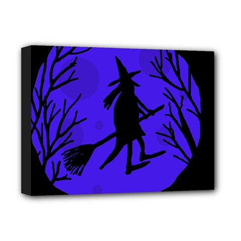 Halloween witch - blue moon Deluxe Canvas 16  x 12