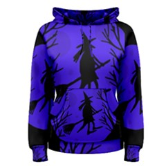 Halloween witch - blue moon Women s Pullover Hoodie