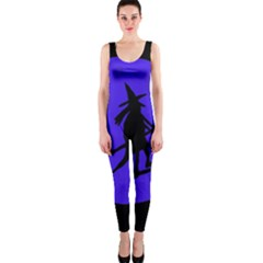 Halloween witch - blue moon OnePiece Catsuit