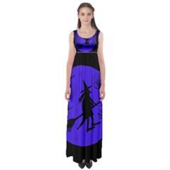 Halloween Witch   Blue Moon Empire Waist Maxi Dress