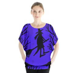 Halloween witch - blue moon Blouse