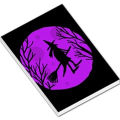 Halloween witch - Purple moon Large Memo Pads