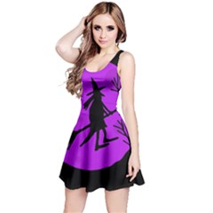 Halloween witch - Purple moon Reversible Sleeveless Dress