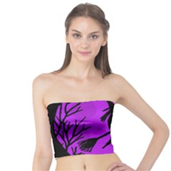 Halloween witch - Purple moon Tube Top