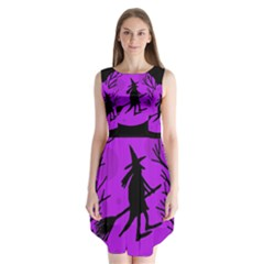 Halloween witch - Purple moon Sleeveless Chiffon Dress