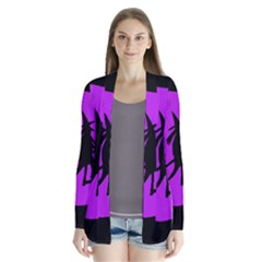 Halloween witch - Purple moon Drape Collar Cardigan