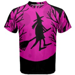 Halloween witch - pink moon Men s Cotton Tee
