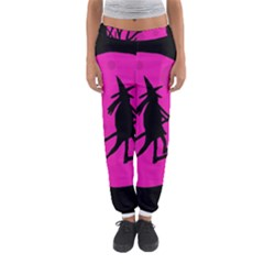 Halloween Witch   Pink Moon Women s Jogger Sweatpants