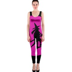 Halloween witch - pink moon OnePiece Catsuit