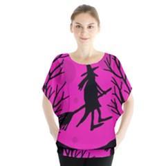 Halloween witch - pink moon Blouse
