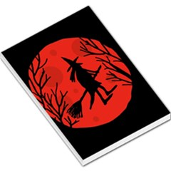Halloween witch - red moon Large Memo Pads