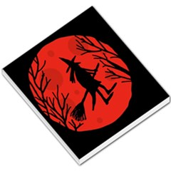 Halloween witch - red moon Small Memo Pads