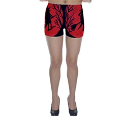 Halloween witch - red moon Skinny Shorts