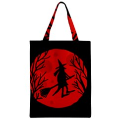 Halloween witch - red moon Zipper Classic Tote Bag