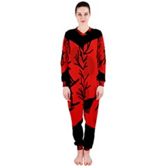 Halloween witch - red moon OnePiece Jumpsuit (Ladies)