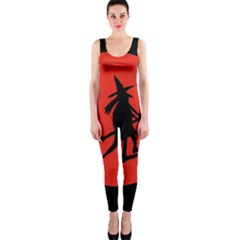 Halloween witch - red moon OnePiece Catsuit