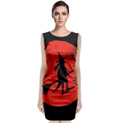 Halloween Witch   Red Moon Classic Sleeveless Midi Dress