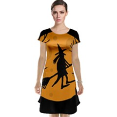 Halloween witch - orange moon Cap Sleeve Nightdress