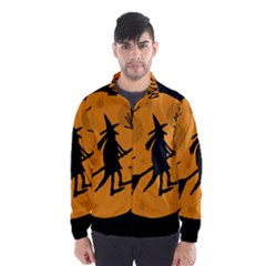 Halloween witch - orange moon Wind Breaker (Men)