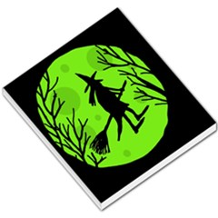 Halloween witch - green moon Small Memo Pads