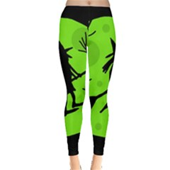 Halloween witch - green moon Leggings