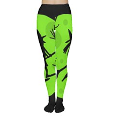 Halloween witch - green moon Women s Tights