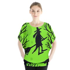 Halloween witch - green moon Blouse