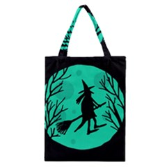 Halloween witch - cyan moon Classic Tote Bag