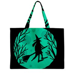 Halloween witch - cyan moon Zipper Mini Tote Bag