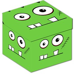 Halloween Frankenstein - green Storage Stool 12
