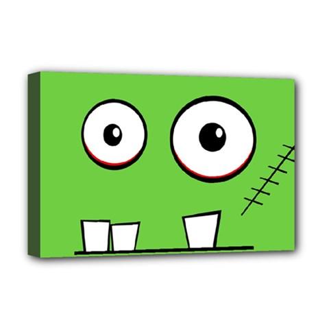 Halloween Frankenstein - green Deluxe Canvas 18  x 12