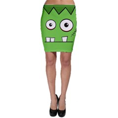 Halloween Frankenstein - green Bodycon Skirt