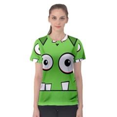 Halloween Frankenstein - green Women s Sport Mesh Tee