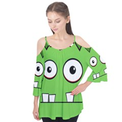 Halloween Frankenstein - green Flutter Tees