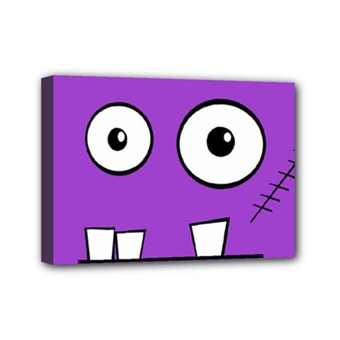 Halloween Frankenstein - Purple Mini Canvas 7  x 5