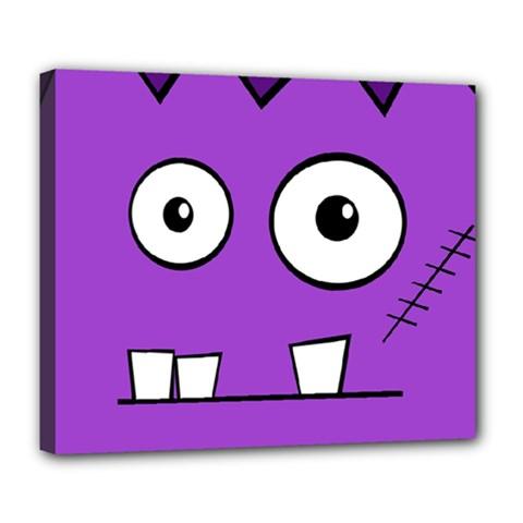 Halloween Frankenstein - Purple Deluxe Canvas 24  x 20