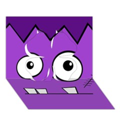 Halloween Frankenstein - Purple Clover 3D Greeting Card (7x5)