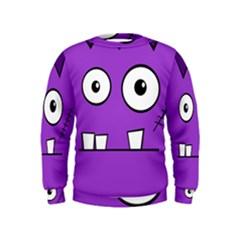 Halloween Frankenstein - Purple Kids  Sweatshirt